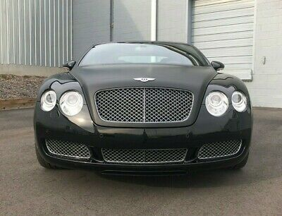 2007 Bentley Continental GT GTC BLACK CLEAN CARFAX SERVICED DARK GRAY HIDES 1 OWNER CHROME WHEELS GRILLE