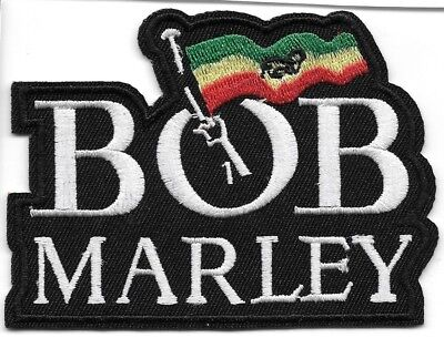 Bob Marley Music Iron on Sew on Embroidered Patch applique#570