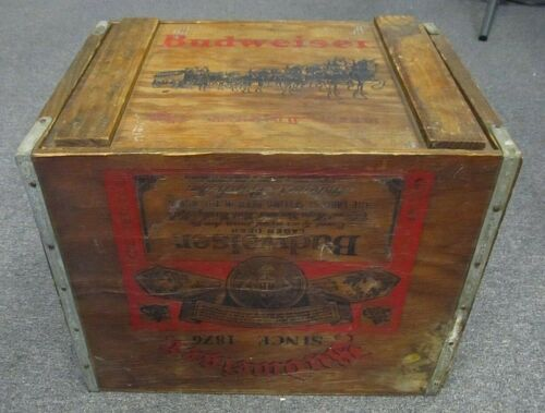 Budweiser Vintage Wood Crate With Clydesdales