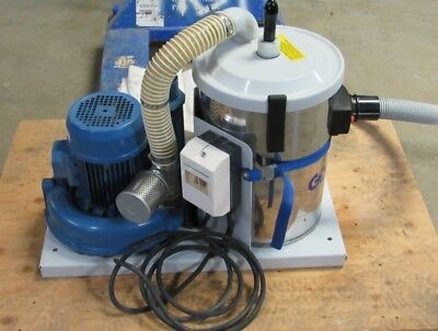 Goodway Dv-sv 460v 3ph 3hp Industrial Fixed Vacuum With Extra Bag
