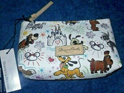 Dooney & Bourke Disney Paw Prints Dog Cosmetic Bag Pouch New Nwt Pluto Castle