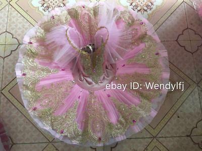 Adult Professional Ballet Platter Tutu Skirt Dance Dress Pink Classic Costume
