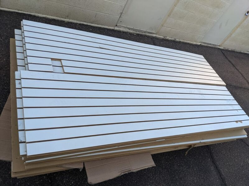 slatwall panels 2x8 $60 Each, 12 Available.