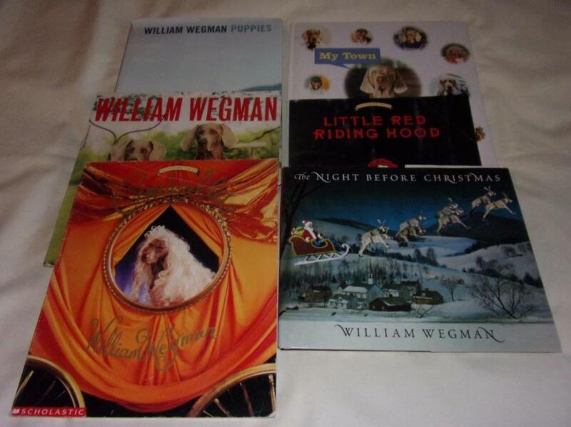 Set of 6 William Wegman picture books