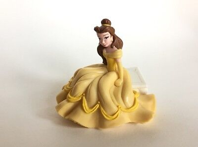 Disney Princess DecoPac Belle Sitting on a Bench Figure Toy Beauty & The -