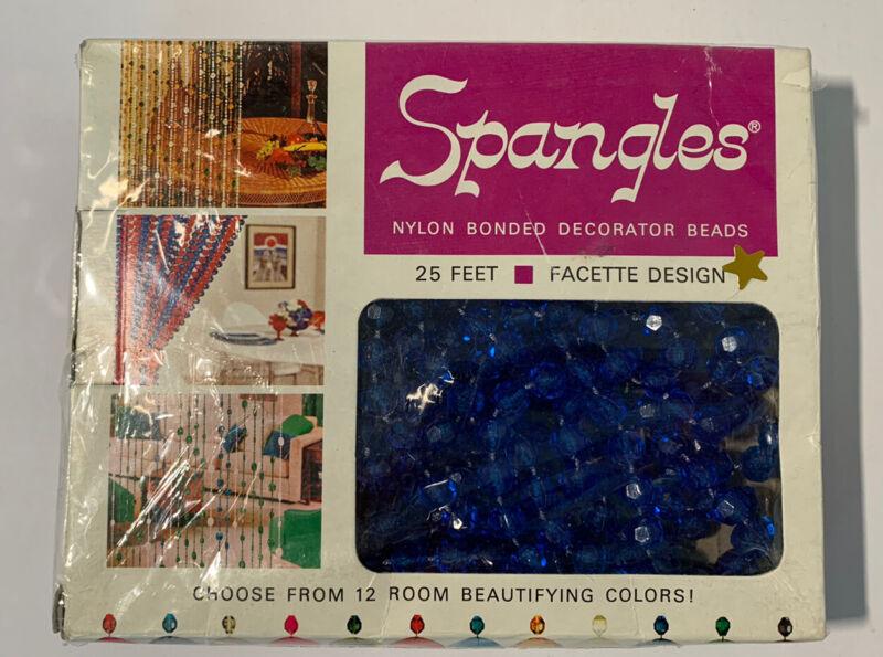 Vintage SPANGLES Dark Blue Decorator Beads Factette 1970 Russ Stonier NOS
