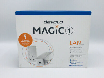 Devolo Magic 1 LAN Starter Kit 2x Powerline 1x Gigabit LAN Port Per Powerline