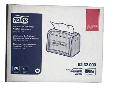 Tork N4 6232000 Xpressnap Black Tabletop Napkin Dispenser