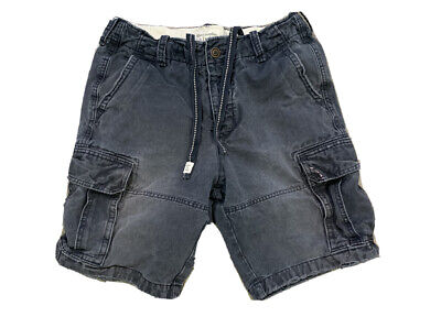 Abercrombie Fitch Men's Fadded Distressed Cargo Shorts Size 34