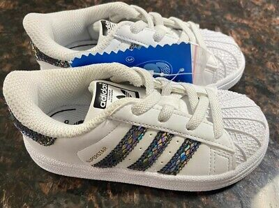 Adidas Classic Shell Toe Superstar Kids Girls Toddler Baby Size US 7 U.K. 6.5