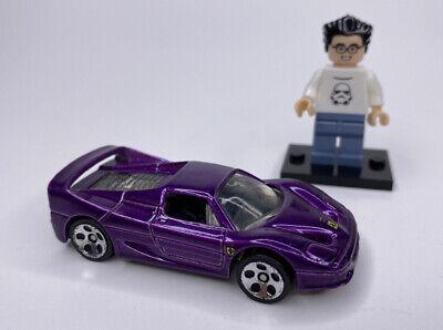 Hot Wheels 2001 Ferrari F50 Purple 5 Dot Wheels Hardtop Exotic Rare HTF Loose