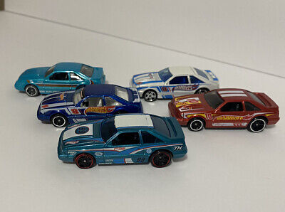 Hot Wheels '92 Mustang Lot  Fox Bodies 1/64 Loose (1 Regular Treasure Hunt)