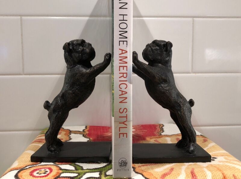 Cast Iron Bulldog Bookends Set of 2 by Uttermost