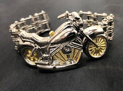 """Motorcycle Bracelet Watch Chain Link Band New Without Tags 8"""""""
