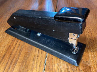 Vintage Bostitch B5 Model Black Metal Stapler Made In Usa Heavy Duty