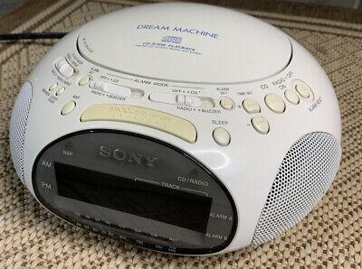 SONY Dream Machine ICF-CD831 CD Radio Alarm Clock Audio White