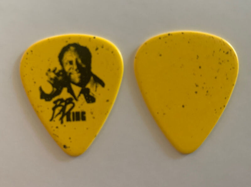BB King King Of The Blues Black On Yellow Issued Tour Guitar Pick Lucille