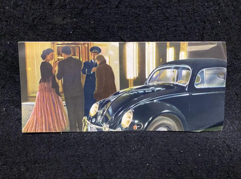 1950s Volkswagen VW Bug Beetle Oval Small Window Brochure