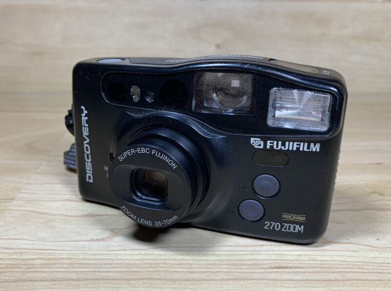 Fujifilm Discovery 270 Zoom 35mm Point & Shoot Film Camera Tested Works