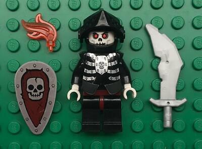 Black Lego Skeleton (Lego Skeleton Knight Minifig Lot: castle figure black soldier)