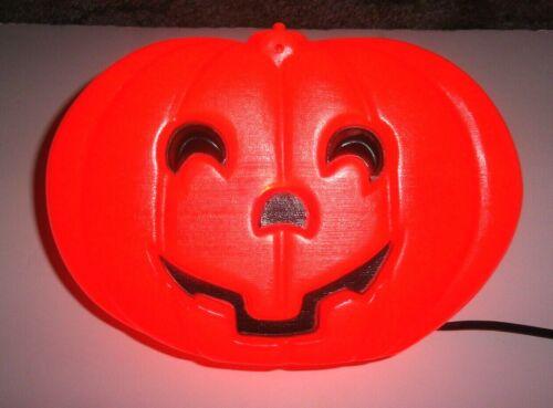 """Vintage Blinky Glow Lite  9"""" x 6"""" Pumpkin Jack O Lantern Blow Mold 1995 Electric"""