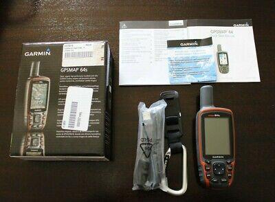 Garmin GPSMAP 64s Handheld Receiver Navigator w/Maps 010-01199-10 NEW
