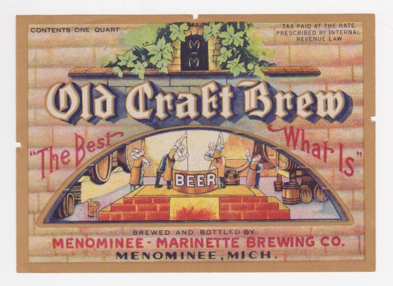 Old Craft Brew IRTP Beer Label