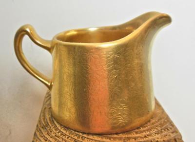 Gold Tone Relief Creamer l Pickard USA