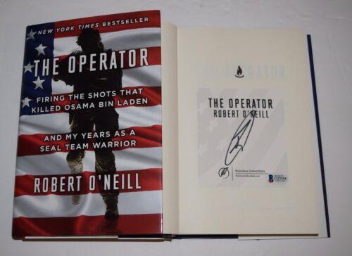 Robert O'Neill Signed THE OPERATOR Book Bin Laden Seal Team 6 Beckett BAS COA