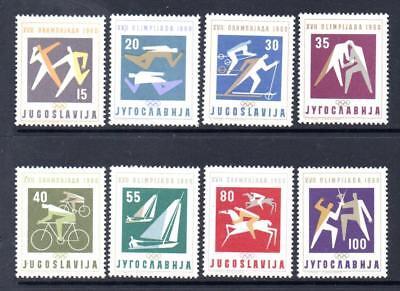 YUGOSLAVIA MNH 1960 SG947-954 OLYMPIC GAMES