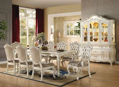 Acme Furniture Chantelle Pearl White 9 Piece Dining Set Acme Furniture Set Chair