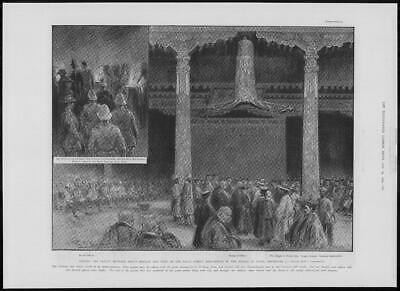 1904 Antique Print - TIBET Lhasa Treaty Signing Dalai Lama Palace Potala (275)