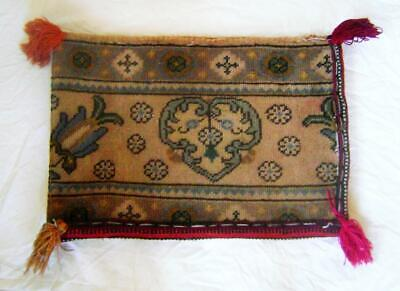 Vintage Hand Woven Rectangular Saddlebag made from Persian Carpet Piece