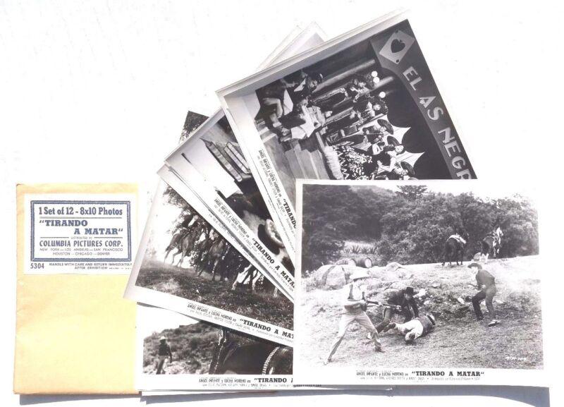 Vtg 1961 Tirando A Matar Movie Press Kit Photos (Angel Infante / Lucha Moreno)2