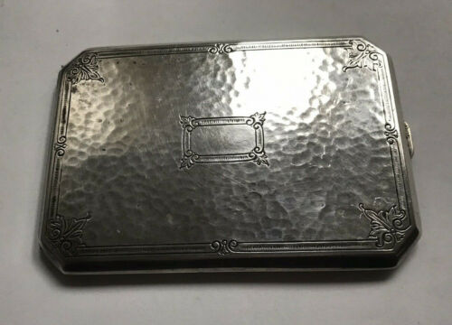Sterling art nouveau hand hammered cigarette case by Webster Company