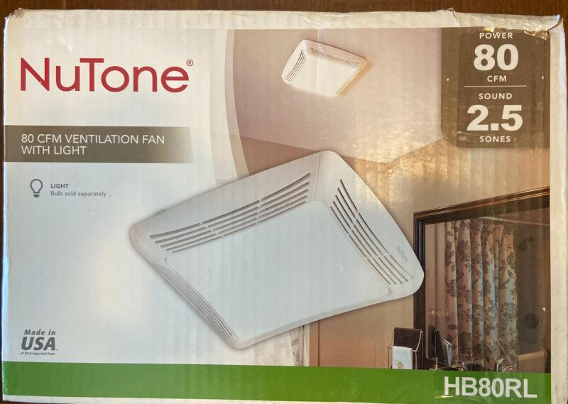Nutone HB80RL 80 CFM Ceiling Bathroom Exhaust Fan with Light