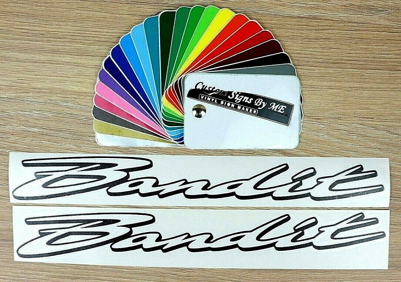 2x Bandit GSF Personalised Bike Motorbike Stickers Vinyl Decal Adhesive Fairing