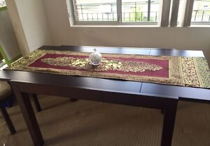 Extendable dining table with 4 velvet chairs Bankstown Bankstown Area Preview
