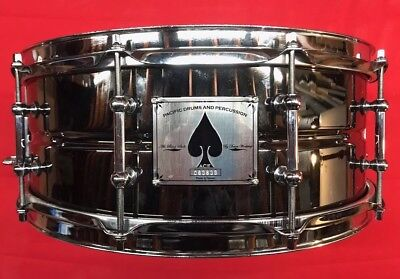 PDP by DW Ace Of Spades Black Nickel on Brass Snare Drum 5 X14 10 Lugs