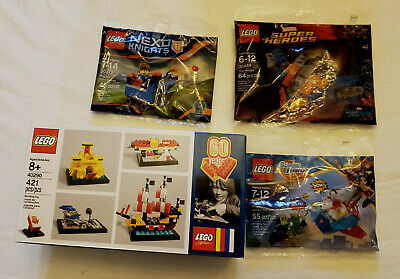 4 all new Lego Sets / 40290 / 30372 / 30449 / 30546 New never open in Box.
