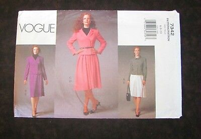 Vogue Pattern 7342 Misses Jacket and Skirt 5 projects Loose Fit Sizes 6-10 Uncut