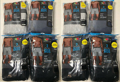 Fruit of the Loom Wholesale Lot Men Boxer Briefs S M L XL 24 Pairs!