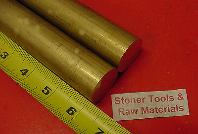 2 Pieces 1-18 C360 Brass Solid Round Rod 6 Long 1.125 H02 Lathe Bar Stock