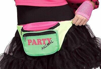 Funny 80s Costume (80's Party Animal Fanny Pack Funny Costume Accessory 80s Retro Zipper)