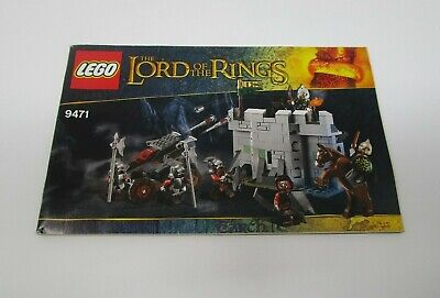 Lego 9471 Lord of the Rings Uruk-Hai Army INSTRUCTION MANUAL BOOKLET