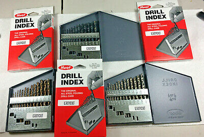 3 Set 13 Pc Cobalt Black Bright Jobber Drill Bit 116 - 14 Huot Case