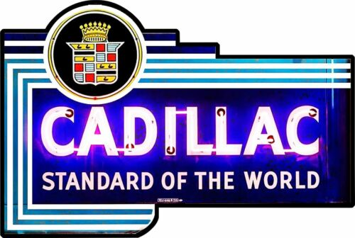 Cadillac Standard of the World Metal Sign