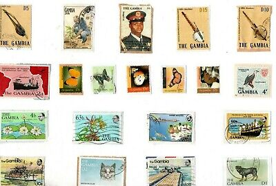 A LOVELY MIX OF ALL DIFFERENT KILOWARE STAMPS FROM THE GAMBIA