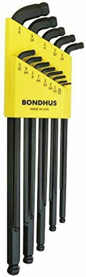 Bondhus 67037 13 Pc. L-wrench Stubby Double Ball End