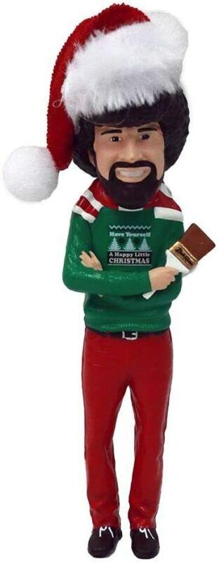 Kurt Adler Bob Ross with Hat Blow Mold Ornament
